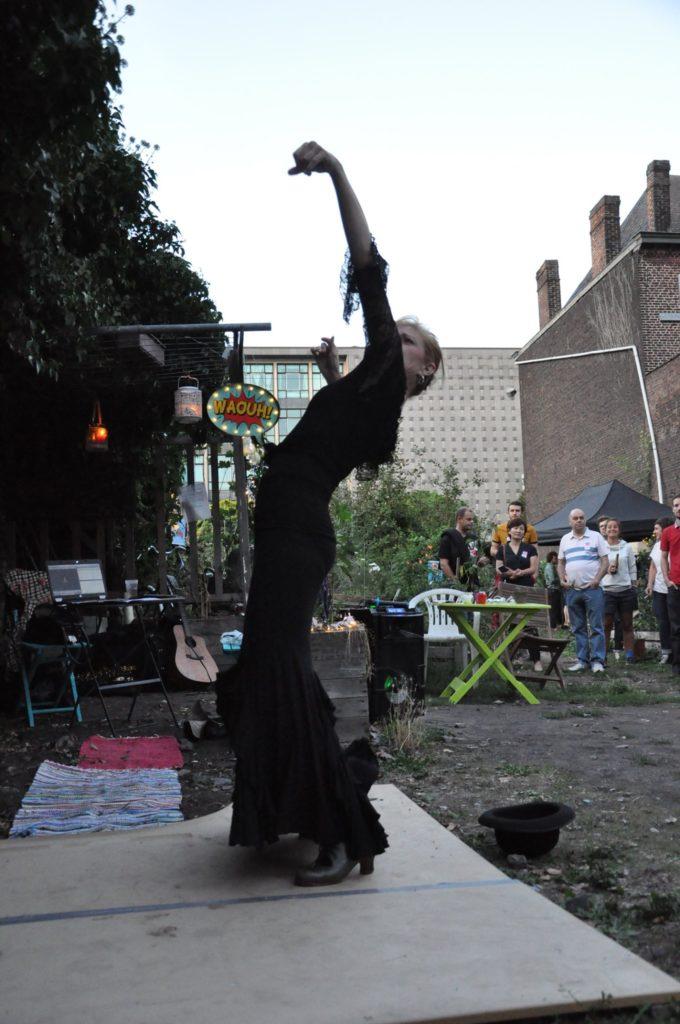 Laurence Grégoire danse tango robe noire