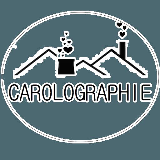 Logo carolographie terril cheminée coeurs qui en sortent