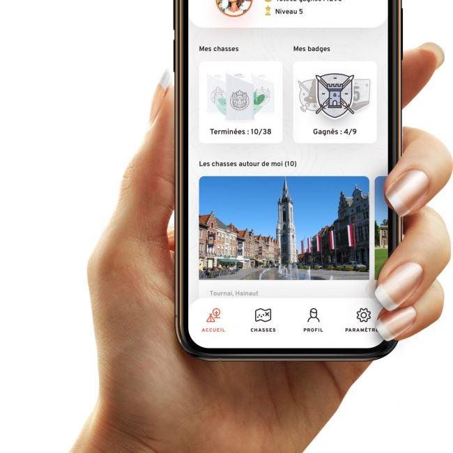téléphone portable GSM appli Totemus image villes