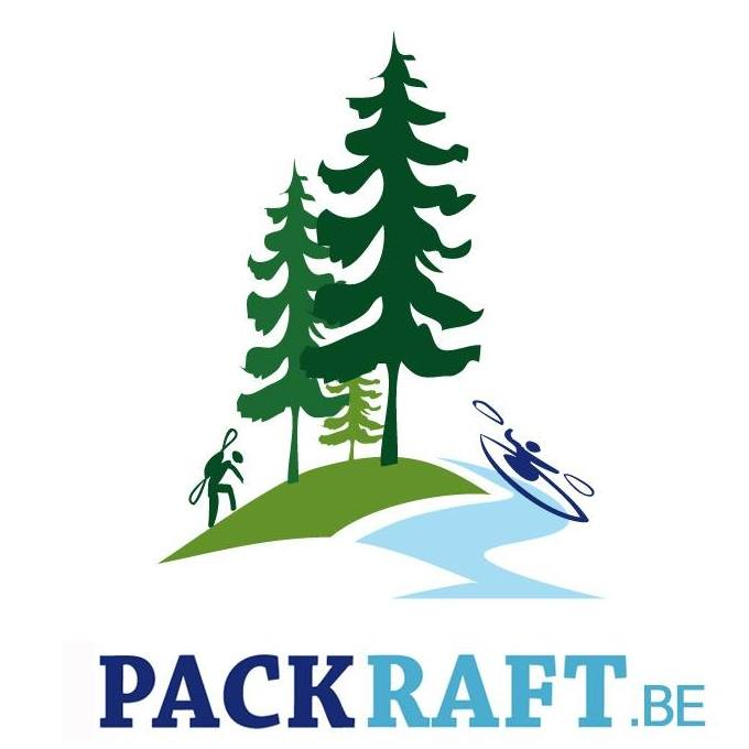 logo pack and raft dessin sapins rivière