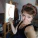 anaïs en train de peindre