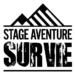 Logo noir blanc montagne SAS Stage Aventure Survie